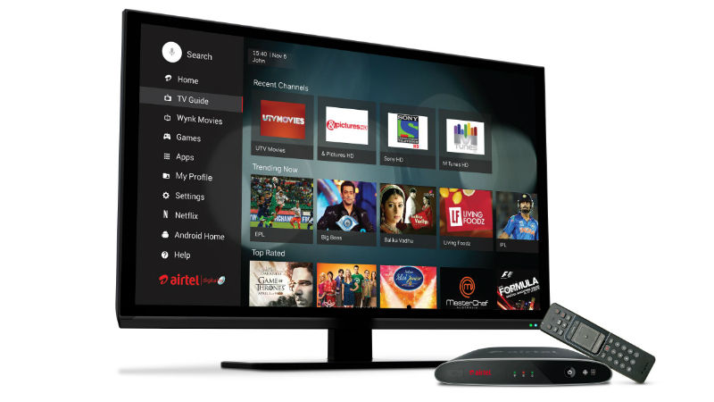 Airtel Android Based HD Internet TV launched in India Supports TV